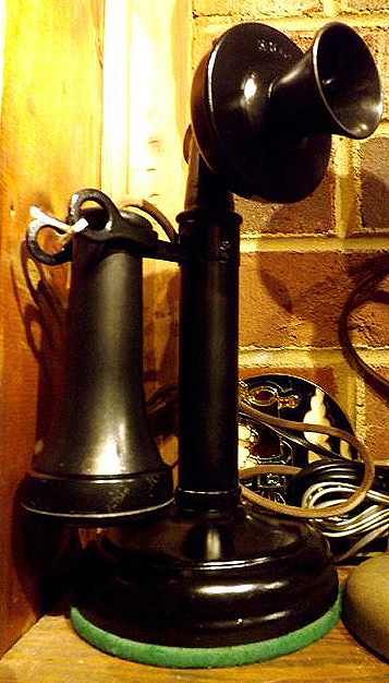 antique and vintage telephones kellogg candlestick phone from the very early years of the 20th century